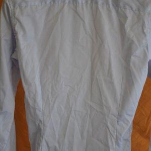 Eton Shirts - ETON Lt Blue Slim Fit Dress Shirt Size 15 x 34/35